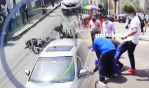 Cansados de la delincuencia: Casi linchan a ladrón en Breña