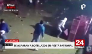La Libertad: celebran fiesta patronal y terminan enfrentándose a botellazos