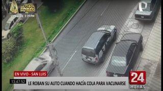 San Luis: mujer sufrió el robo de su auto mientras realizaba cola para vacunarse