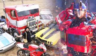 Transformers: Autobots y Decepticons graban escenas en el Cusco