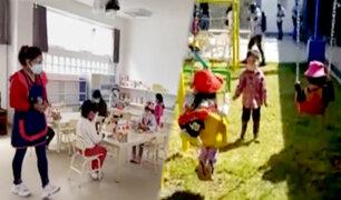 Arequipa: así se inicia el dictado de clases semipresenciales en colegio urbano