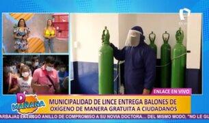 Lince: comuna recarga y presta balones de oxígeno de manera gratuita a ciudadanos