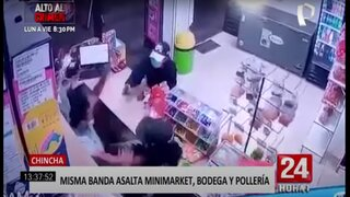 Chincha: banda de delincuentes es captada robando en bodega, pollería y minimarket