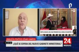 """César Campos sobe Guido Bellido: """"Su desempeño ha sido el de un impresentable"""""""