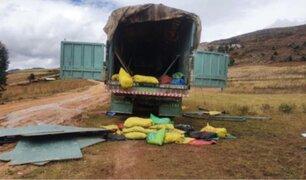 La Libertad: delincuentes simularon operación policial para robar camión lleno de minerales