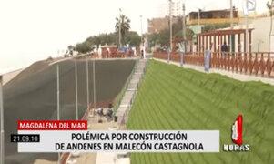 Construcción de andenes en malecón Castagnola causa polémica
