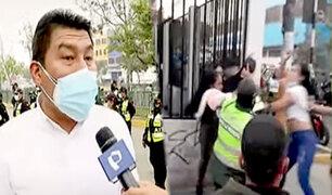 Meretrices agreden a policías y serenos para evitar ser expulsadas de Ate