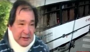 Argentina: hombre es atropellado por bus y sale sin ningún rasguño