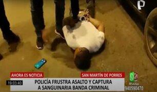 SMP: Policía frustra asalto y captura banda dedicada a robar exclusivamente camionetas