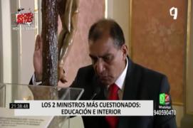 Los dos ministros más cuestionados: Educación e Interior