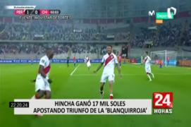Peruano ganó más de 17 mil soles apostando a la victoria de Perú versus Chile