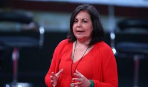 """Rocío Silva-Santisteban: """"Lo que se requiere urgente es trabajar todos juntos en equipo"""""""