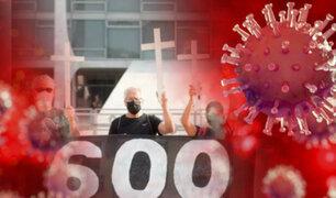 Brasil supera las 600 mil víctimas mortales por la COVID-19