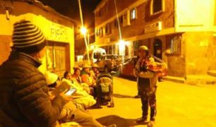Arequipa: familias pasaron la noche en la calle tras sismo de 5.5 grados que se registró ayer