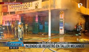 SJL: voraz incendio consumió taller mecánico y alarmó a vecinos durante la madrugada