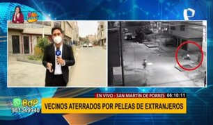 SMP: vecinos aterrados por constantes peleas de extranjeros en plena calle