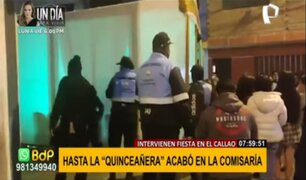 'Quinocovid' en el Callao: quinceañera acabó en comisaría por fiesta en pleno toque de queda