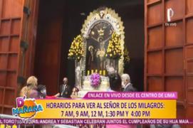 Señor de los Milagros: fieles hacen colas para ingresar a iglesia de Las Nazarenas