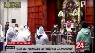 Las Nazarenas: cientos de fieles visitan la imagen del Señor de los Milagros