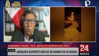 Hernando Tavera explica la razón de los más de 30 sismos en Arequipa