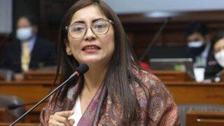 Congresista Portalatino pide a Mirtha Vásquez confirmar si cumplirá promesas de campaña de Castillo