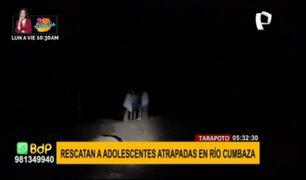 Tarapoto: adolescentes ingresan a río, pero quedan atrapadas por aumento de caudal
