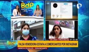 Denuncian que falsa vendedora estafa a comerciantes por Instagram en Lima y provincias