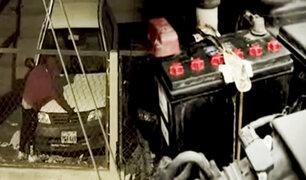 Cae 'mero loco', ladrón de baterías y accesorios de autos que era terror en El Agustino