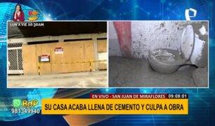 Casas afectadas por construcción aledaña: continúan trabajos pese a prohibición municipal