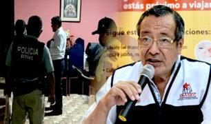 Madre de Dios: allanan casa de gobernador por presunto favorecimiento a empresas chinas
