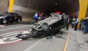 Rímac: accidente de tránsito en túnel Santa Rosa dejó cuatro heridos