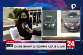 Docente denuncia que clonaron placa de su auto