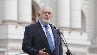 Jorge Montoya pide a Pedro Castillo la salida de Luis Barranzuela como ministro del Interior