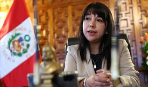 Mirtha Vásquez aseguró que no se detendrá erradicación de la hoja de coca en el VRAEM