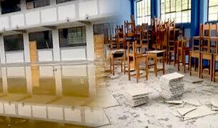 Cajamarca: denuncian mala construcción de nuevo colegio que hoy se encuentra inhabitable