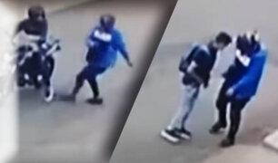 Delincuentes en moto lineal asaltan a grupo de amigos en Chorrillos