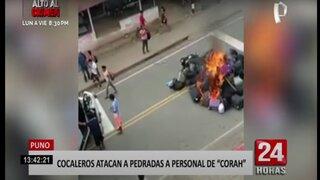 Puno: cocaleros atacan a personal del CORAH en San Gabán