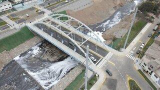 Alcalde Muñoz inauguró el puente 'Fernando Belaunde Terry' que unirá Lima y Callao