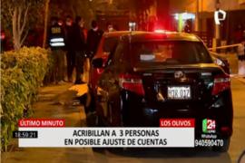 Los Olivos: acribillaron a 3 personas por posible ajuste de cuentas