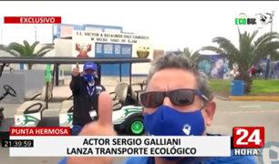 ¡EXCLUSIVO! Sergio Galliani presentó línea de buses y minibuses 100% eléctricos y eco amigables