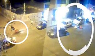 Tacna: motociclista impacta contra un auto estacionado tras esquivar otro vehículo