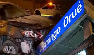 Surquillo: Conductor se estrella contra estación del Metropolitano