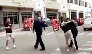 Huacho: fiscalizador y conductor se agarraron a golpes en plena vía pública