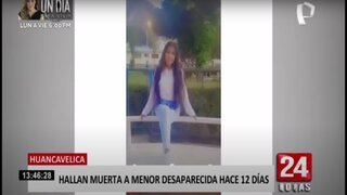 Huancavelica: luego de 14 días encuentran sin vida a adolescente que estaba desaparecida