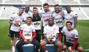 Argentina vs. Perú: la postal que compartió la Bicolor camino al Estadio Monumental