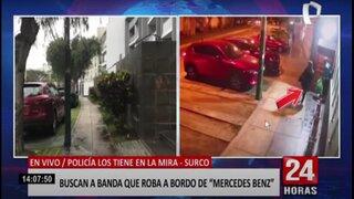 Surco: delincuentes roban a bordo de lujoso automóvil
