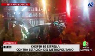 Sujeto chocó contra estación de Metropolitano bajo los efectos del alcohol