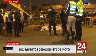 La Victoria: despiste de moto dejó dos fallecidos