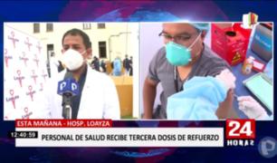 Dr. Italo Vásquez fue el primer profesional de la salud en recibir tercera dosis en hospital Loayza