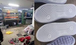 """Comas: intervienen almacén y taller clandestino donde se fabricaba  """"zapatillas bamba"""""""